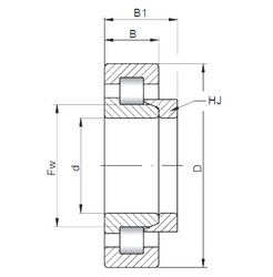 220 mm x 460 mm x 145 mm  ISO NH2344 cylindrical roller bearings