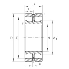 260 mm x 360 mm x 100 mm  INA SL024952 cylindrical roller bearings