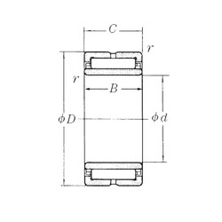 260 mm x 360 mm x 100 mm  NSK NA4952 needle roller bearings