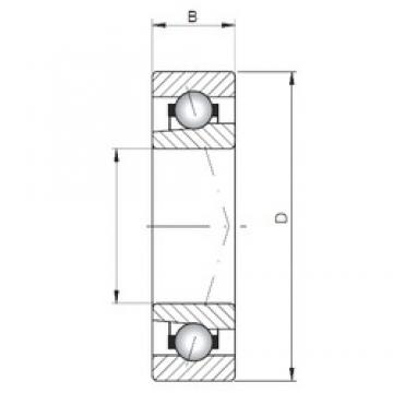 ISO 71919 A angular contact ball bearings