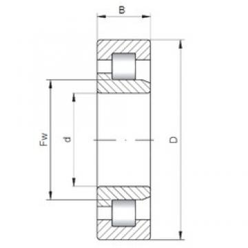 280 mm x 420 mm x 65 mm  ISO NJ1056 cylindrical roller bearings