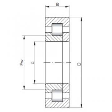 170 mm x 310 mm x 110 mm  ISO NUP3234 cylindrical roller bearings