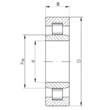 170 mm x 310 mm x 110 mm  ISO NU3234 cylindrical roller bearings