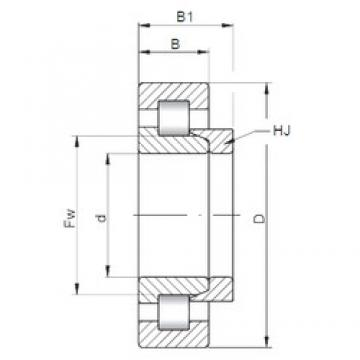 160 mm x 290 mm x 80 mm  ISO NH2232 cylindrical roller bearings