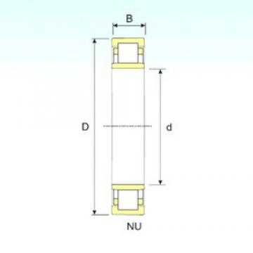 280 mm x 420 mm x 65 mm  ISB NU 1056 cylindrical roller bearings