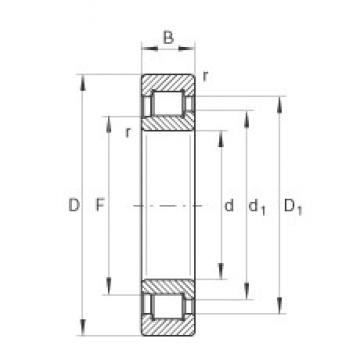 260 mm x 540 mm x 165 mm  INA SL192352-TB cylindrical roller bearings