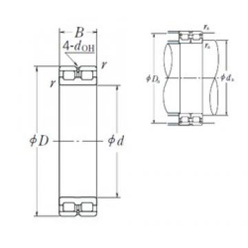 260 mm x 360 mm x 100 mm  NSK RSF-4952E4 cylindrical roller bearings